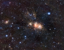 Infrared VISTA view of a stellar nursery in Monoceros
