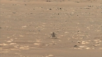 Ingenuity Mars Helicopter taking flight on Mars credit NASA