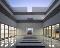 Inner Courtyard of The Void a Community Center by Hyunjoon Yoo Architects in Sinan-Gun South Korea