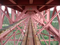 Inside a bridge built in  by Gustave Eiffel Garabit France px  px OC
