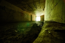 Inside a bunker on Kodiak Island Alaska