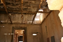 Inside a room in an abandon train station in the desert Tucson AZ USA