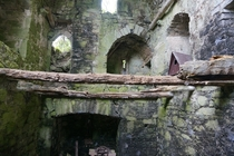 Inside a ruined tower house in Ireland