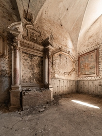 Inside a th-century Italian church abandoned for over  years