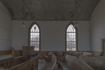 Inside an abandoned Canadian Church A major foundation shift caused a large crack and forced the closure and eventual abandonment oc x