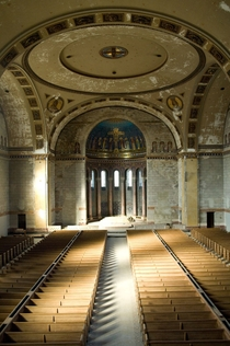 Inside an abandoned church in Philadelphia has since been demolished
