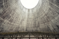 Inside an abandoned cooling tower  by Flash Berger