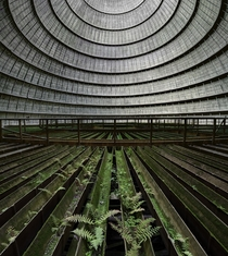 Inside an abandoned cooling tower in Belgium  Photographed by Matt Emmett