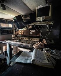 Inside an abandoned radio station