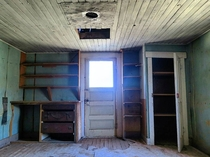 Inside an abandoned ranch house in Petrified Forest National Park