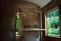 Inside an abandoned train Switzerland