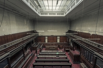 Inside an abandoned Victorian courtroom in England  Photographed by SJ