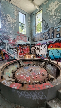 Inside an old hydroelectric plant in Northern Oregon