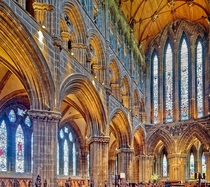 Inside Gothic style Glasgow Cathedral