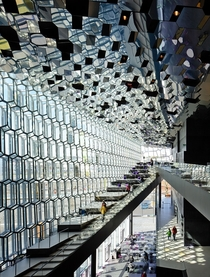 Inside Harpa Concert Hall in Iceland  Photographed by Pedro Kok