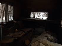 Inside of an abandoned mobile home I found on a snowmobile trip