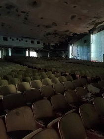 Inside of an abandoned theater in Bushkill PA