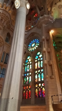 Inside picture of The Sagrada Familia from my trip to Spain