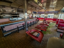 Inside Rosies Diner car in Michigan waiting to be restored one day