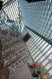 Inside Seattle Central Library Rem Koolhaas Joshua Prince-Ramus