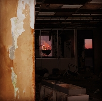 Inside the abandoned Varnadore office building in Charlotte North Carolina