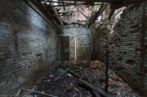 Inside the basement of an old abandoned schoolhouse in western Ontario Canada OC -