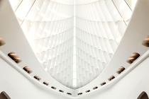 Inside the Burke Brise Soleil at the Milwaukee Art Museum