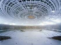 Inside the Buzludzha Monument Bulgaria