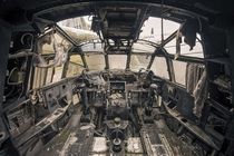 Inside the cockpit of an abandoned French military aircraft  Photographed by Mark Taken-By-Me