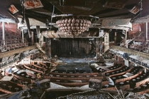 Inside the Costa Concordia Cruise ship a few years back before it was scrapped