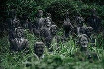 Inside the creepy abandoned Japanese parkmore than  statues