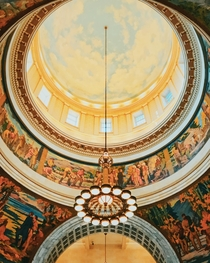 Inside the dome of Utahs state capitol