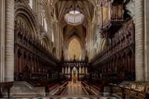 Inside the historic Ely Cathedral in England