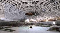 Inside the House of the Bulgarian Communist Party during winter