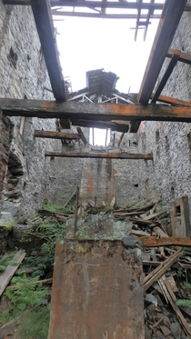 Inside the Old Klondyke lead mill