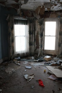 Inside the one house they couldnt demolish in front of a new development US