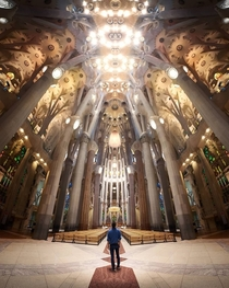 Inside the Sagrada Familia in Barcelona