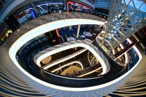 Inside the Zeil Galerie in Frankfurt Germany