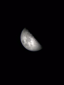 Inspired by usteelandwine  this is a shot taken from my iPhone and an Orion refractor telescope