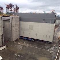Installation of ten-story tall lock gates for the new Panama Canal xPost MachinePorn