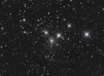 Instead of taking images of one Galaxy at a time I decided to frame over  in one image - The Coma Cluster