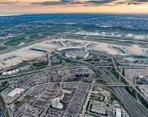 Interchange connecting Highways  and  to Toronto Pearson International airport