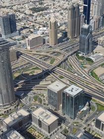 Interchange next to the Burj Khalifa Dubai