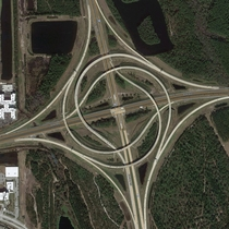 Interchange of I- and Butler Blvd near Jacksonville FL