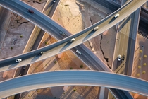 Interchanging flyovers in Albuquerque New Mexico  by Alex MacLean