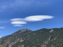 Interesting clouds over a mountainside Georgetown Colorado
