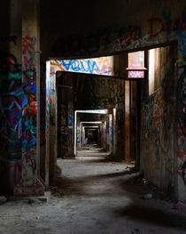 Interesting views in the basement of some abandoned silos in Chicago IL