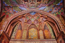Interior artwork in the Wazir Khan Mosque Lahore