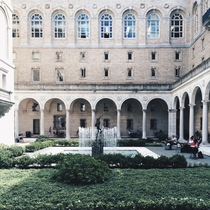 Interior courtyard of the Boston Public Library Boston MA