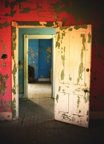Interior Doors - Abandoned s Home - Florence Alabama